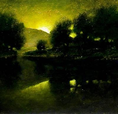 Lakeside Sunset Art Print by Jim Gola