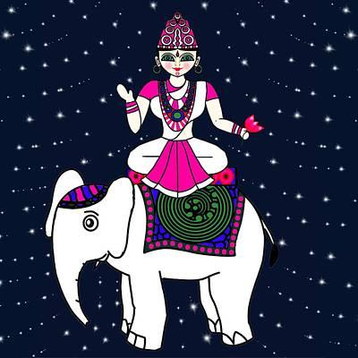 Painting - Lakshmi by Pratyasha Nithin