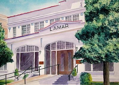 Lamar Bathhouse Art Print by John Keller
