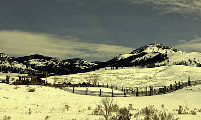 Photograph - Lamar Ranger Station In Winter - Yellowstone by L O C