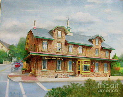 Painting - Lambertville Inn by Oz Freedgood