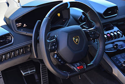 Photograph - Lamborghini Cockpit by Mike Martin