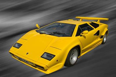 Photograph - Lamborghini Countach by Chris Day
