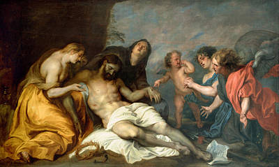 Wept Painting - Lamentation Over The Dead Christ by Anthony van Dyck