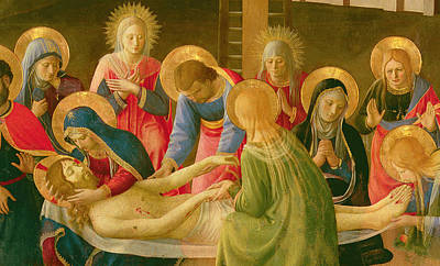 St Mary Magdalene Painting - Lamentation Over The Dead Christ by Fra Angelico