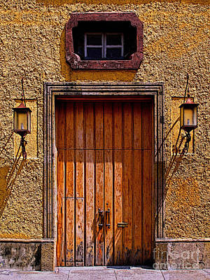 Lamps And Door Art Print by Mexicolors Art Photography