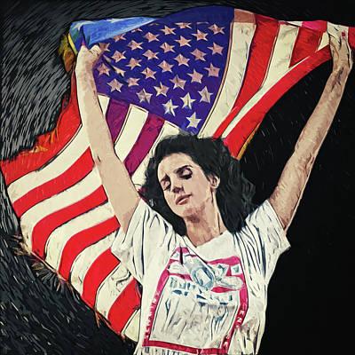 Baroque Digital Art - Lana Del Rey by Taylan Apukovska