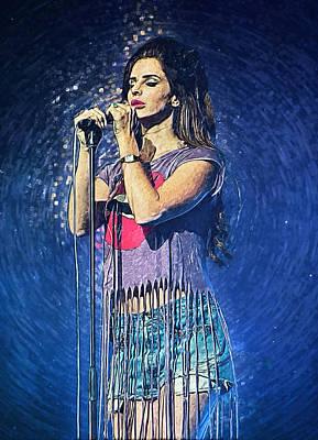 Lana Digital Art - Lana Del Rey by Taylan Apukovska