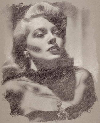 Celebrities Royalty-Free and Rights-Managed Images - Lana Turner by Esoterica Art Agency