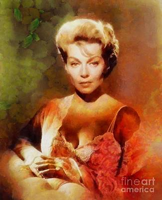 Famous Television Stars Painting - Lana Turner, Vintage Hollywood Actress by Sarah Kirk