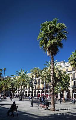 Photograph - Landmark Plaza Real Square In Central Barcelona City Spain by Jacek Malipan