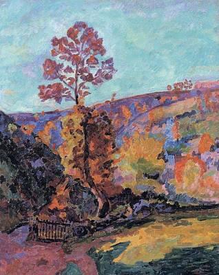Landscape At Crozant Art Print