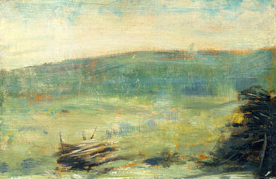 Pointilist Painting - Landscape At Saint-ouen by Georges Seurat