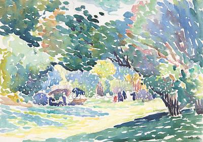 Pointillist Drawing - Landscape by Henri-Edmond Cross