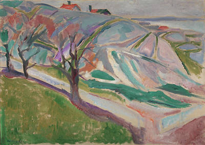 Munch Painting - Landscape, Kragero by Edvard Munch