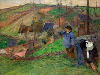 Agricultural Painting - Landscape Of Brittany by Paul Gauguin