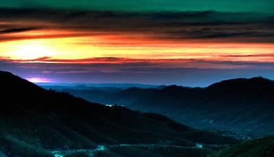 Sunset Digital Art - Landscape Paint by Victoria Landscapes