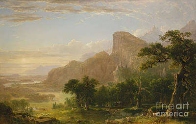 Poetic Painting - Landscape Scene From Thanatopsis by Asher Brown Durand