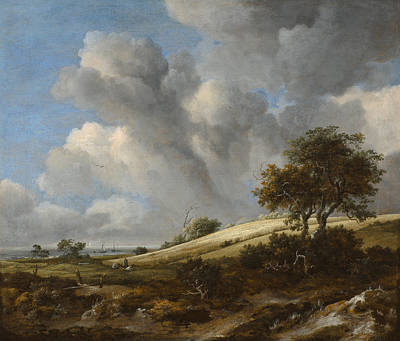 Corn Painting - Landscape With A Corn Field Near The Sea by Jacob van Ruisdael
