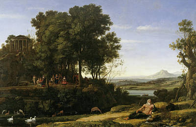 Wood Duck Painting - Landscape With Apollo And The Muses by Claude Lorrain