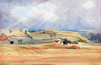Painting -  Landscape With Cattle by James Bulwer