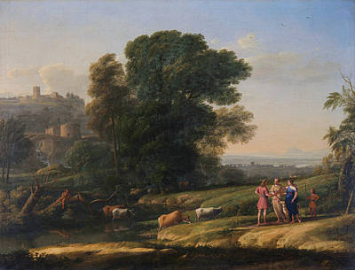 History Painting - Landscape With Cephalus And Procris Reunited By Diana by Claude Lorrain