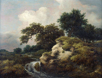 Cascade Painting - Landscape With Dune And Small Waterfall by Jacob van Ruisdael