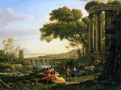 Wreck Painting - Landscape With Nymph And Satyr Dancing by Claude Lorrain