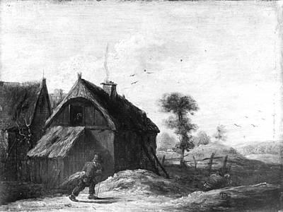 Landscape With Thatched Cottages Original