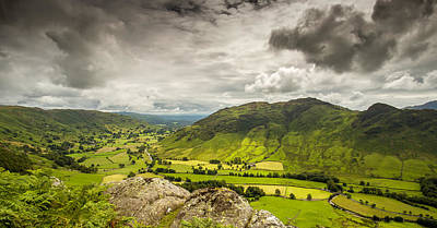 Digital Art - Langdale, Cumbria by Mike Taylor