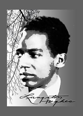 Harlem Digital Art - Langston Hughes by Asok Mukhopadhyay