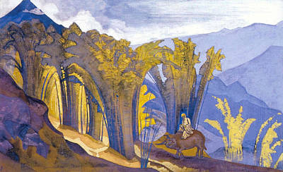 Suggestive Painting - Lao Tzu by Nicholas Roerich