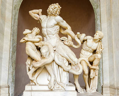 Photograph - Laocoon And His Sons Statue In Vatican Museum  by Marek Poplawski