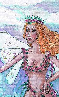 Painting - Larenia Fairy Of Spring by Janice T Keller-Kimball