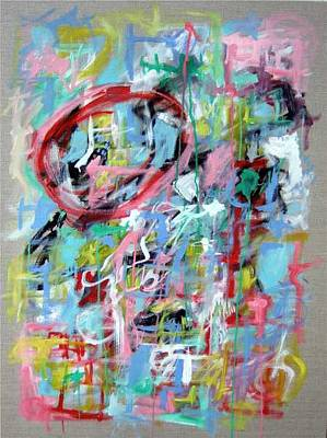 Large Abstract No 5 Art Print by Michael Henderson