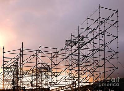 Photograph - Large Scaffolding For Outdoor Concert by Yali Shi