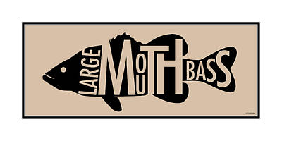 Digital Art - Largemouth Bass  by Geoff Strehlow