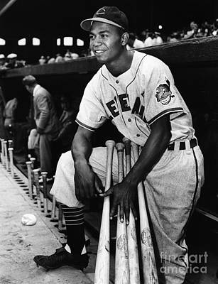 Dugout Photograph - Larry Doby (1923-2003) by Granger