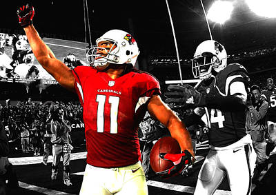 Larry Fitzgerald Art Print by Brian Reaves