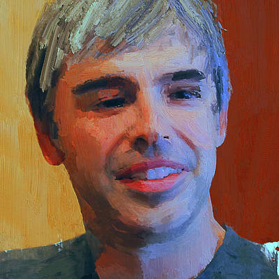 Digital Art - Larry Page Portrait by Yury Malkov