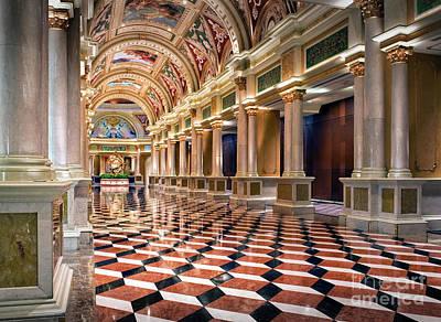 Photograph - Venezian Resort Hotel Las Vegas Exciting by David Zanzinger