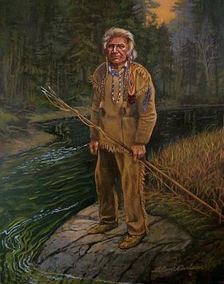 Last Fishing Trip Art Print by Alan Carlson