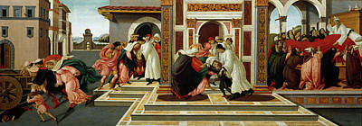 Botticelli Painting - Last Miracle And The Death Of St. Zenobius by Sandro Botticelli