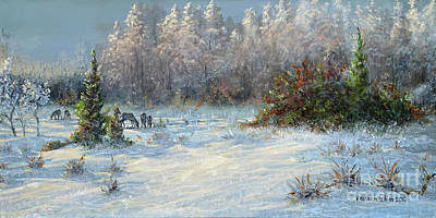 Painting - Last Snow by Valentin Katrandzhiev