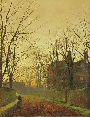 Photograph - Late October by John Atkinson Grimshaw