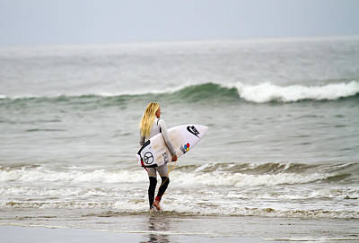 Photograph - Laura Enever Surfer Girl by Waterdancer
