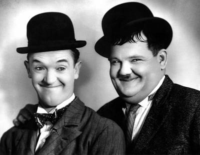 Laurel And Hardy Print by Everett