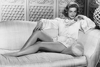Movie Star Photograph - Lauren Bacall by Unknown