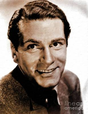 Laurence Olivier Hollywood And British Actor Art Print by Mary Bassett