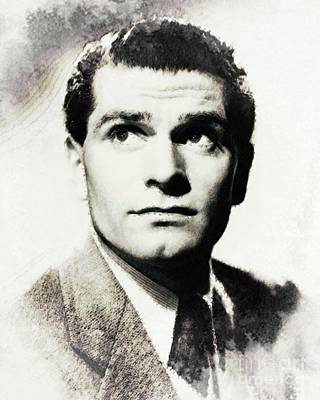 Musician Royalty-Free and Rights-Managed Images - Laurence Olivier, Vintage Actor by John Springfield